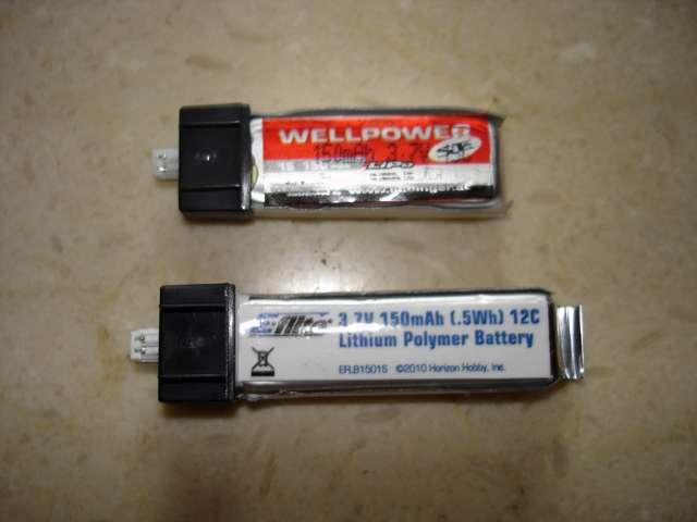 Baterías LiPo 1S 150mAh con conector incorporado