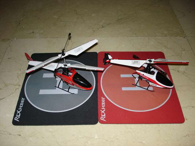 Modelos coaxial y con rotor de cola